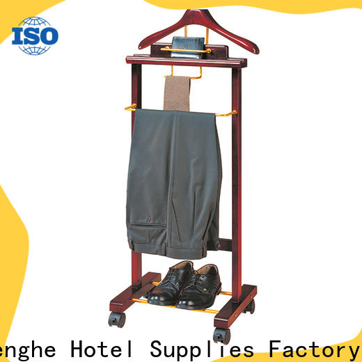 Fenghe solid cloth hanger stand source now for trade show