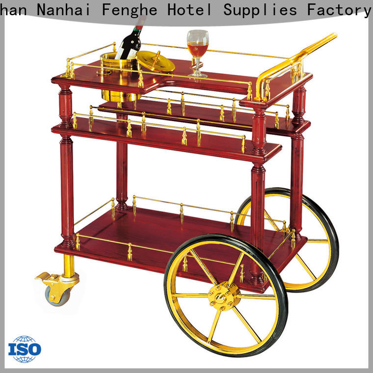 Fenghe elegant bar trolley trader for hotel