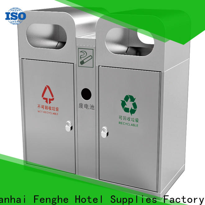 Fenghe dedicated service outdoor garbage cans chinese manufacturer for hotel