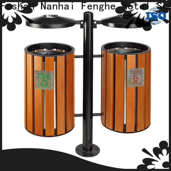 Fenghe dedicated service outdoor garbage can storage manufacturer for lobby