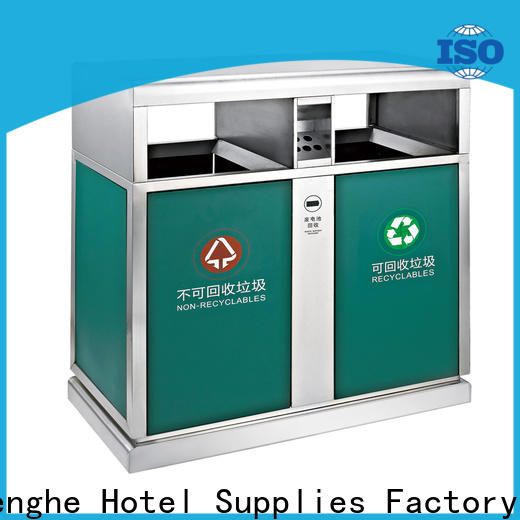 Fenghe dedicated service outdoor trash can factory for lobby