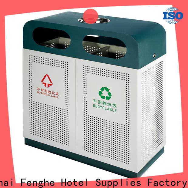 Fenghe trash outdoor garbage cans factory for hotel