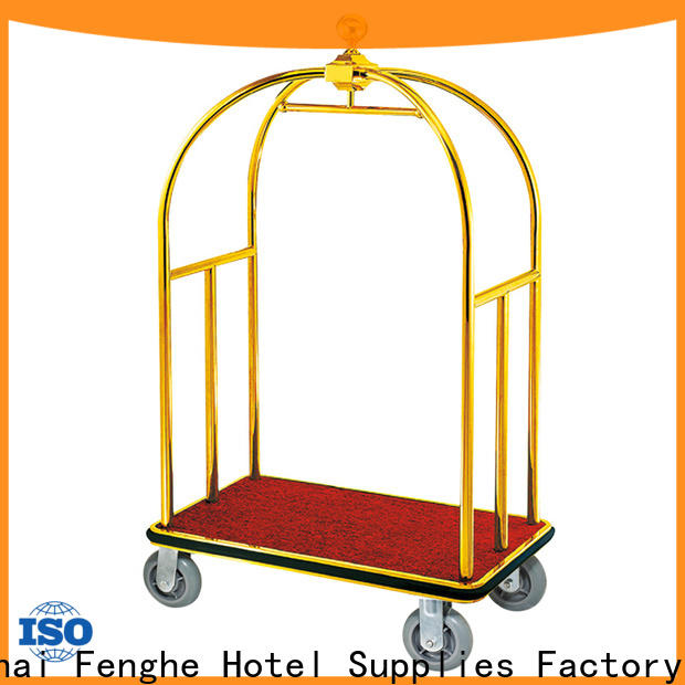 high reliability hotel luggage trolley portable order now for motel