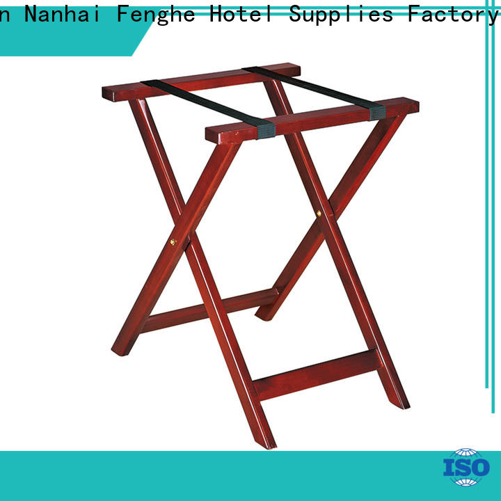 Fenghe customized hotel folding luggage racks supplier for motel