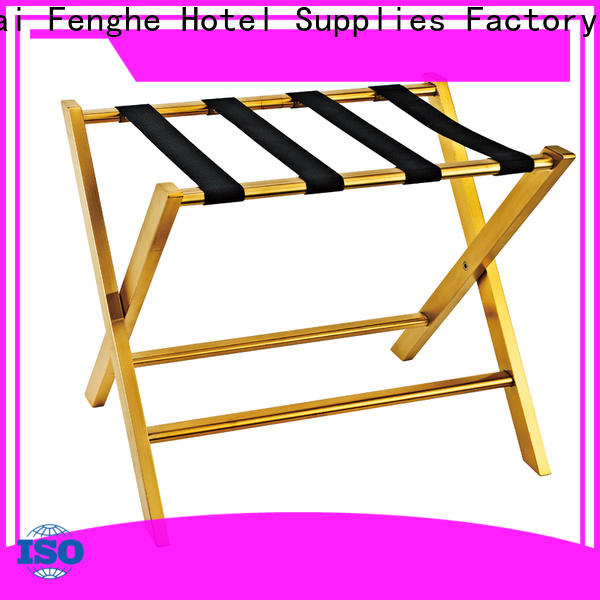Fenghe metal hotel suitcase holders supplier for motel