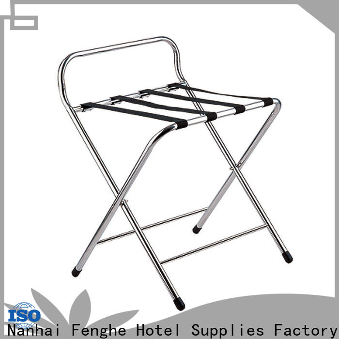 Fenghe high reliability hotel suitcase holders supplier for hotel