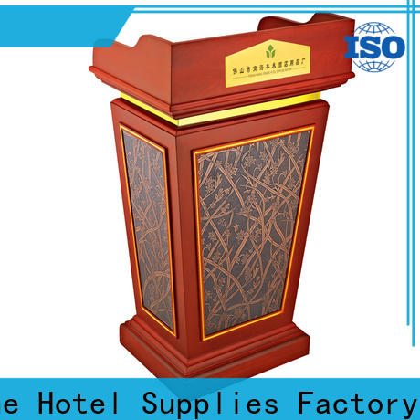 Fenghe red pulpit stand source now for trade show
