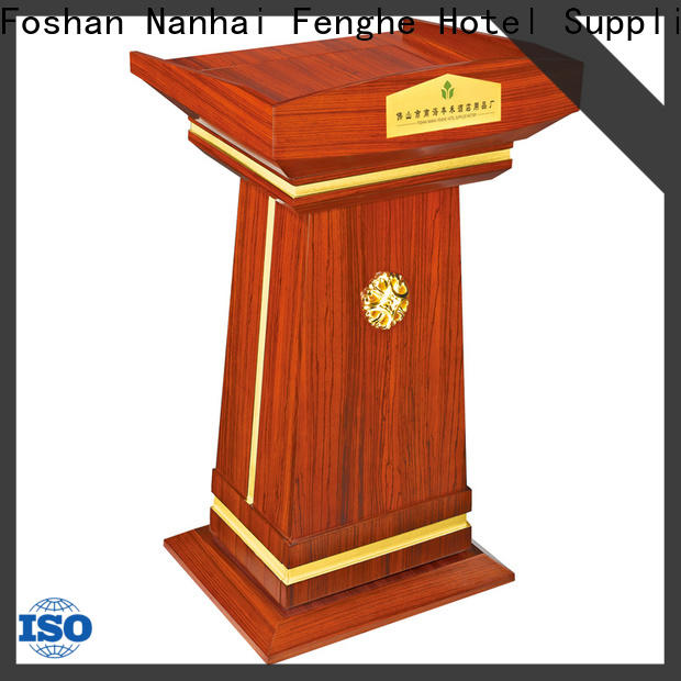 Fenghe low moq lectern stand manufacturer for lecture halls