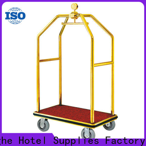 Fenghe wheels hotel style luggage cart source now for motel