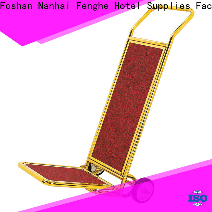 Fenghe high reliability‎ hotel luggage trolley source now for motel