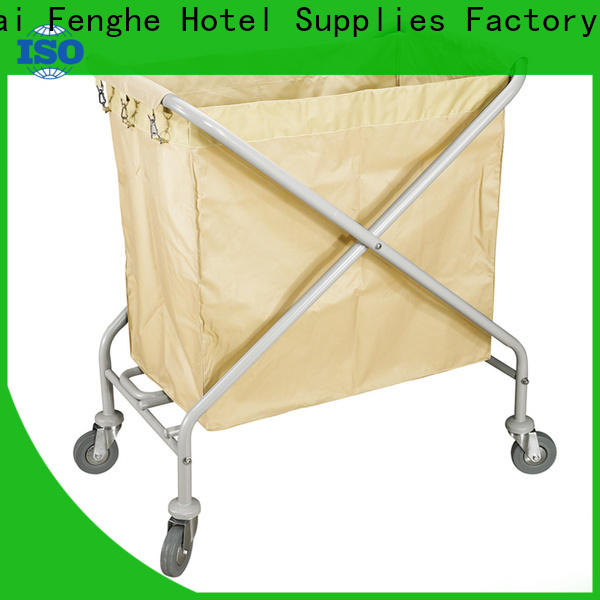 Fenghe luxury hotel housekeeping maid cart trolley factory for hotel