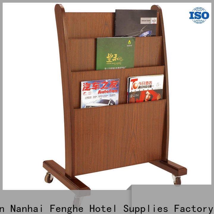Fenghe supplies newspaper stand for hotel quick transaction for guest rooms