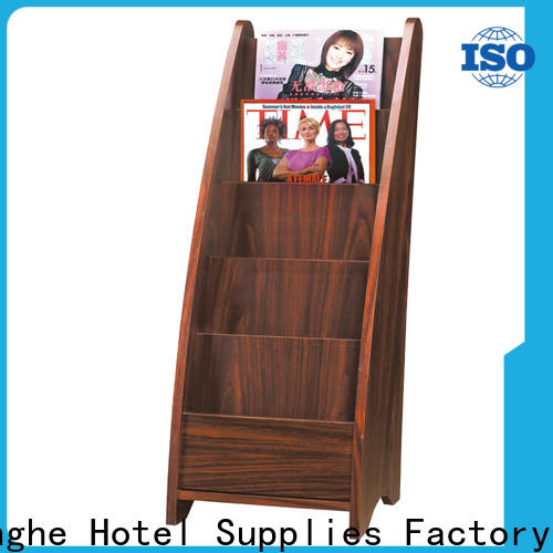 Fenghe solid newspaper display rack quick transaction for guest rooms