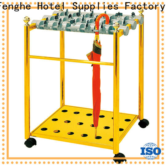 Fenghe metal hotel umbrella stand supplier for motel