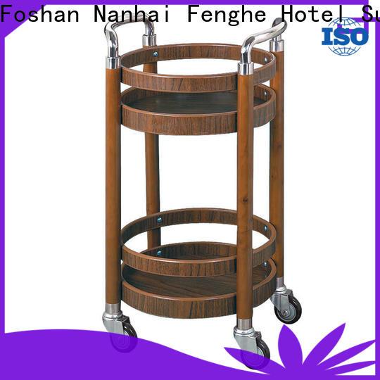 unique design wine cart brown trader for wholesale