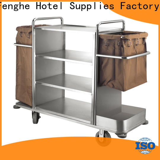 Fenghe maid hotel housekeeping maid cart trolley trader for hotel