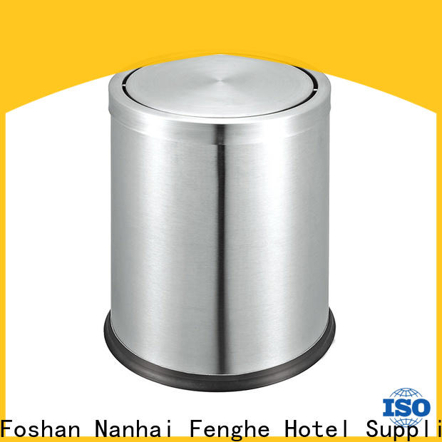 Fenghe stainless hotel bedroom bins quick transaction for hotel