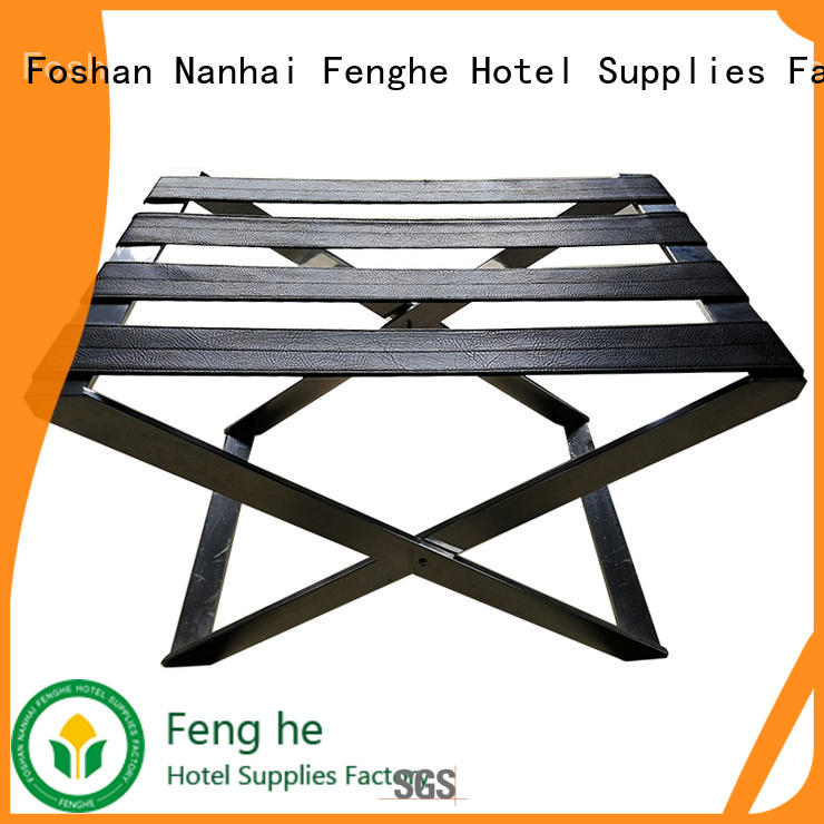 Fenghe dedicated service luggage rack wholesaler trader for motel
