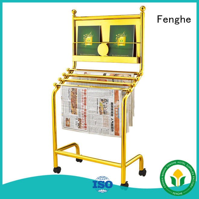 display publications metal newspaper stand for hotel Fenghe