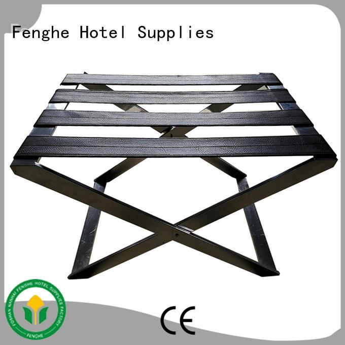 Fenghe Brand steel metal hotel luggage racks modern factory