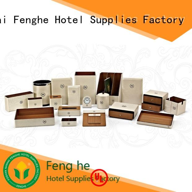 brown leather tissue box a4 for guest house Fenghe