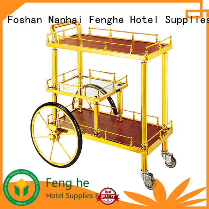 Fenghe liquor wine trolley awarded supplier for hotel