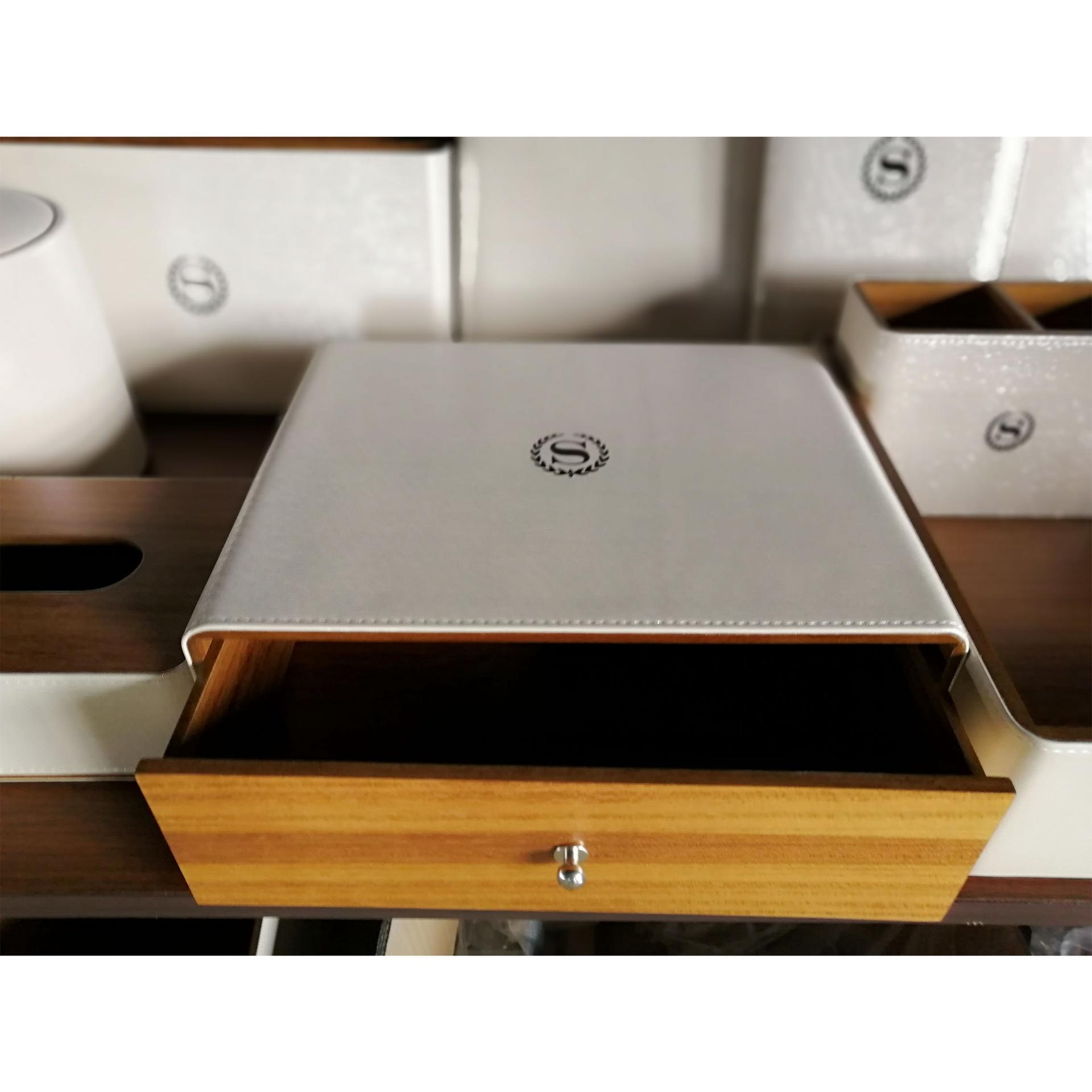 Leather products hotel room leather accessories set,leather holder,PU leather tissue box