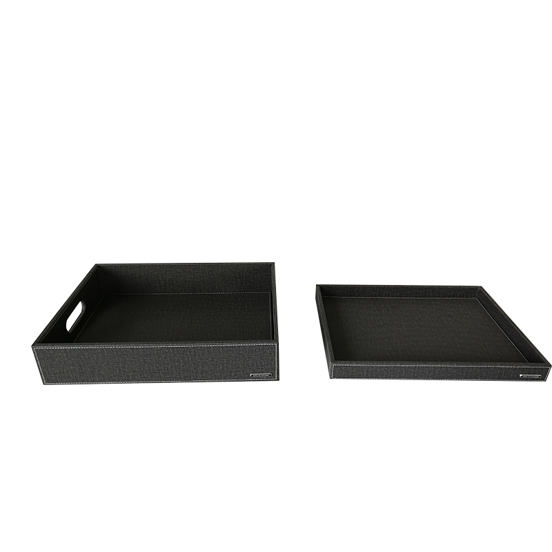 Fenghe-Professional Hotel Amenity Tray Leather Tissue Box Holder-3