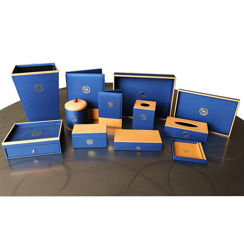 Hotel leather products,PU leather folder,leather tissue boxes