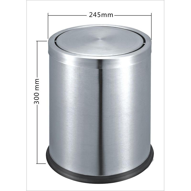 Hotel guest room dustbin trash can stainless steel waste bin