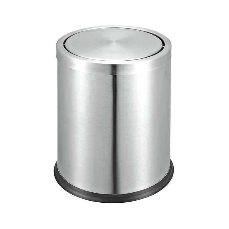 Hotel guest room dustbin trash can stainless steel waste bin
