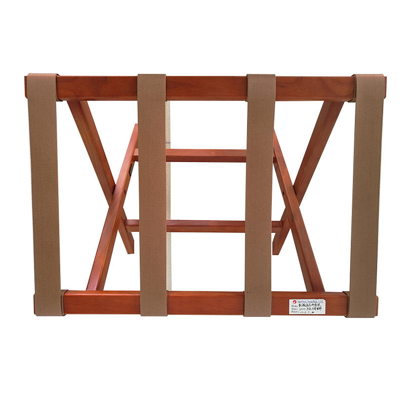 Wood Foldable Luggage Rack for Hotel Room Resort Gym Bedroom