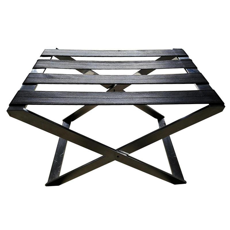 Stainless steel hotel luggage rack folding metal baggage carrier