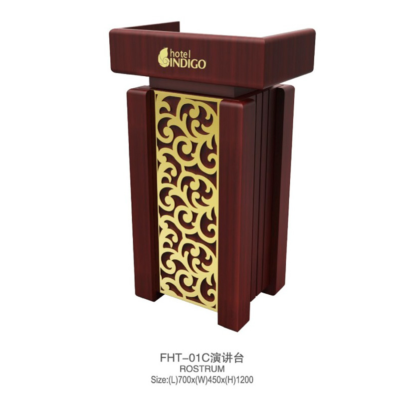 Fenghe-Portable Pulpit Stand Wooden Lectern Rostrum From Fenghe