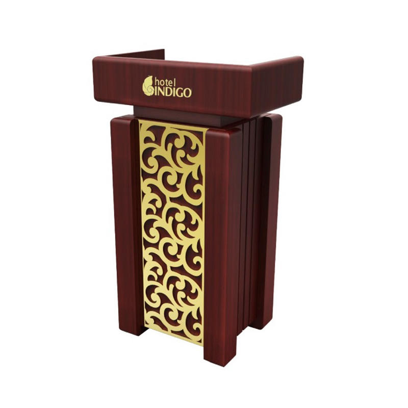 Wooden rostrum for Hotel