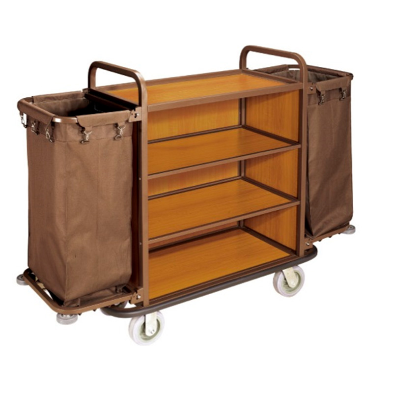 Fenghe laundry hotel housekeeping maid cart trolley factory-9