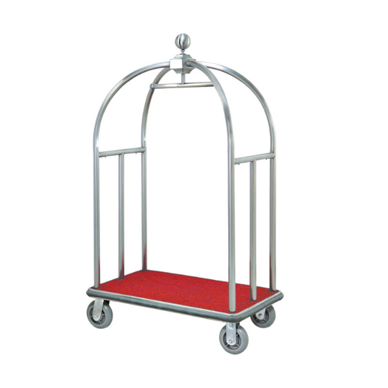 Stainless steel hotel luggage trolley baggage Service cart XL-04A