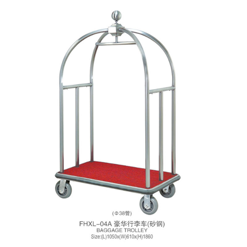 Fenghe xl07 hotel luggage trolley overseas trader for motel