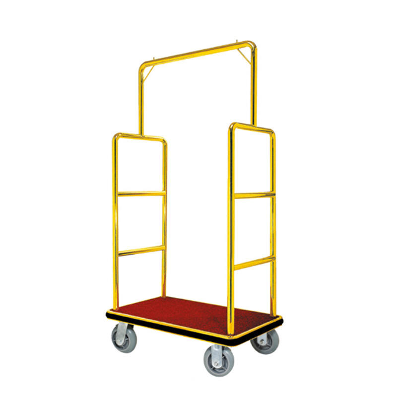 Hotel  luggage trolley titanium flat top luggage cart XL-07
