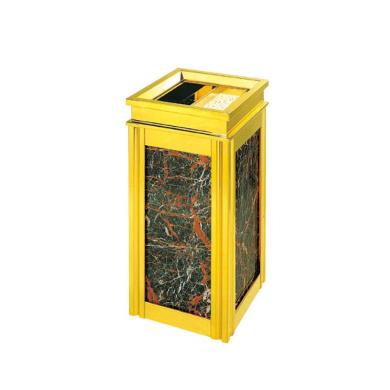 Fenghe-High-quality Cigarette Disposal Bin | Hotel Lobby Titanium Ashtray Bin-1