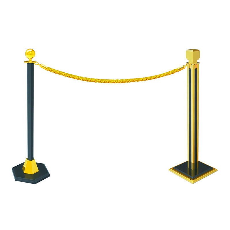 Hotel hanging  golden railing stand queue rope barrier queue line stand