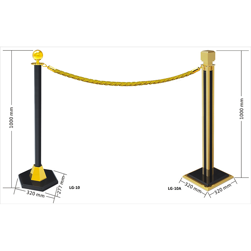 Fenghe-Barrier Stand | Hotel Hanging Golden Railing Stand Queue Rope-3