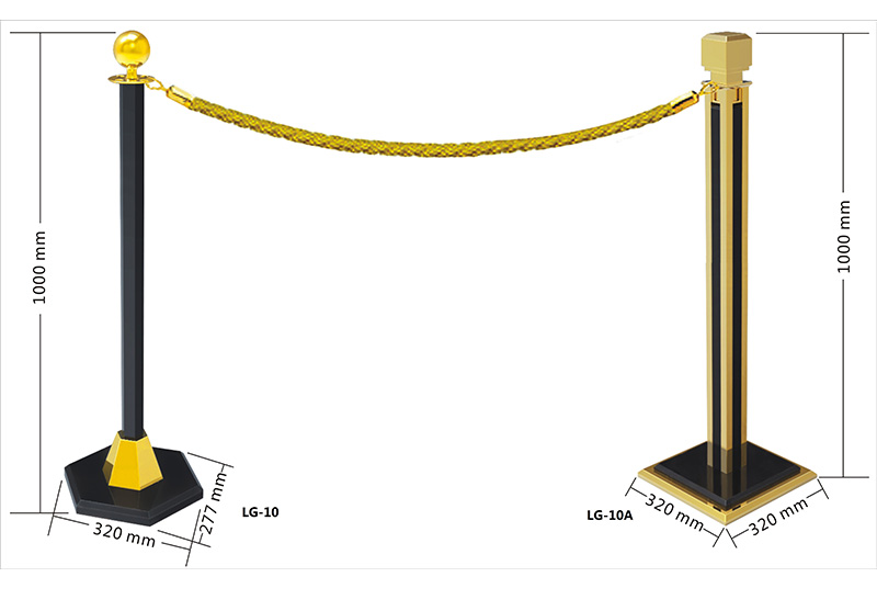 Fenghe-Barrier Stand | Hotel Hanging Golden Railing Stand Queue Rope