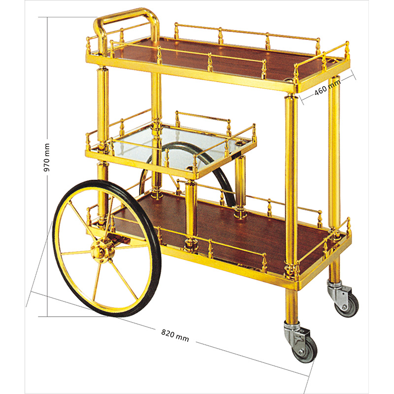 Fenghe-liquor cart on wheels | Hotel Liquor Cart | Fenghe