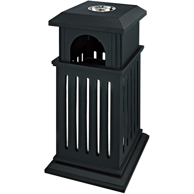 Outdoor Trash Bin metal rubbish barrel Hotel garbage can
