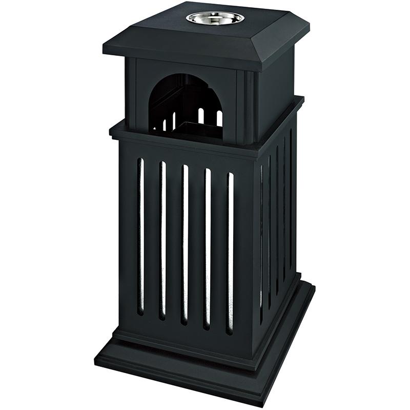 Fenghe-Outdoor Bin   Trash Bin Metal Rubbish Barrel Hotel Garbage Can-1