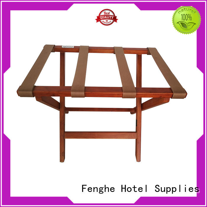 steel wood Fenghe Brand luggage rack for hotel room
