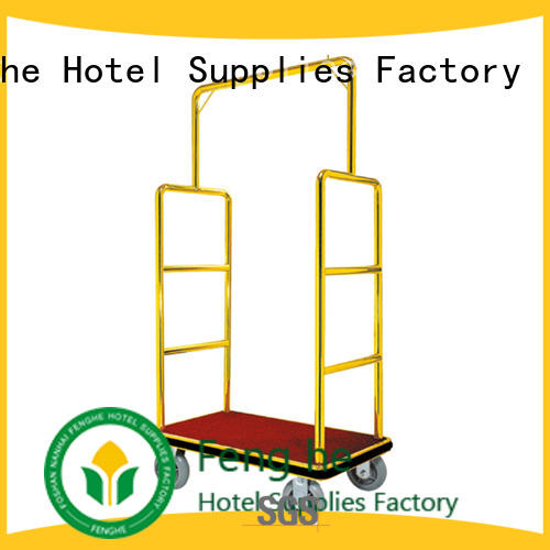 Fenghe portable hotel style luggage cart order now for motel