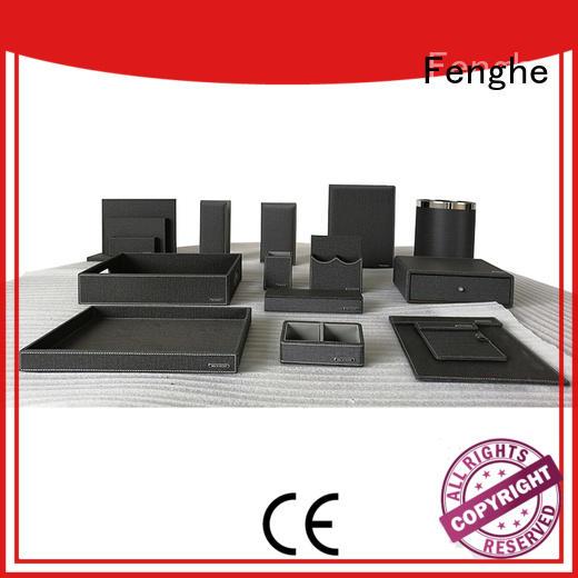 hospitality leather storage bin quality pu Fenghe Brand