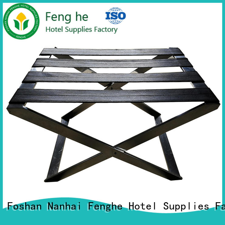 Fenghe guestroom wooden luggage rack solution expert for campus